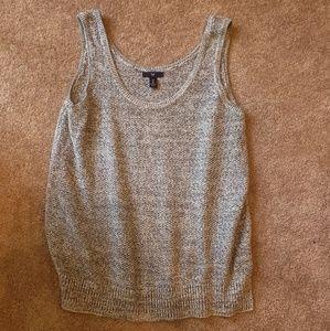 Women's Gap Sweater Vest Large Navy/Gray/White